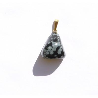 Přívěšek  - obláčkový obsidian