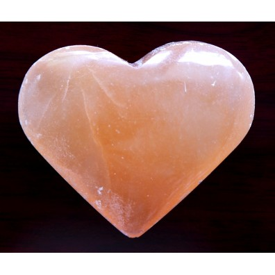 Selenite - big heart, orange