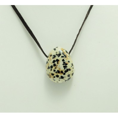 přívěšek vrtaný - jaspis dalmatin