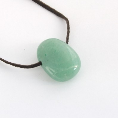 Drilled pendant - jadeite