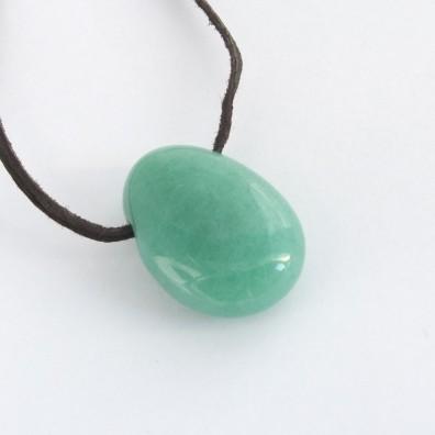 přívěšek vrtaný - jadeit